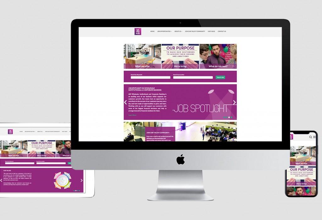AIB Careers website mock up