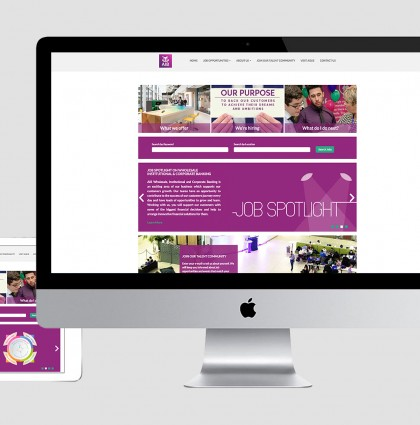 AIB Careers website mock up