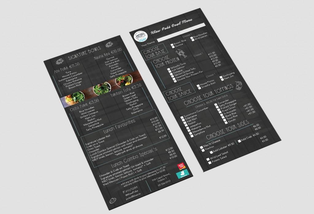 Klaw poke DL menu