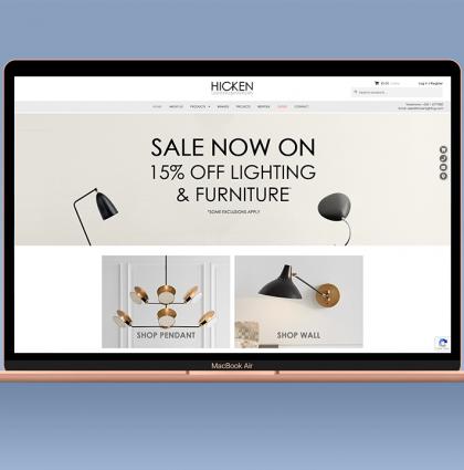 Hicken Lighting Website
